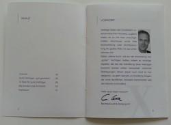 Inhalt & Vorwort der Broschüre